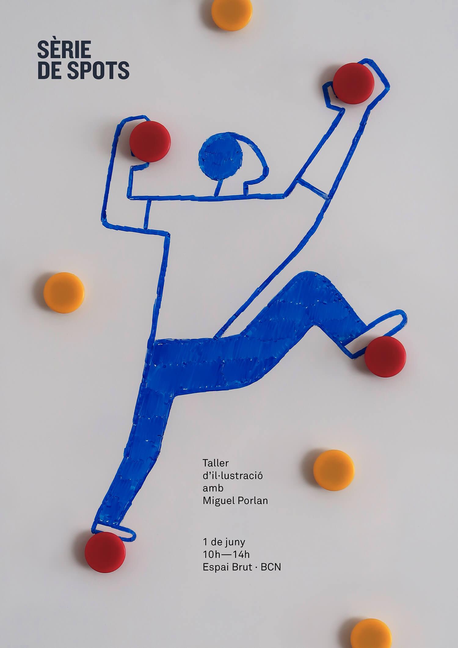 miguel porlan, illustration, poster, poster design, serie de spots, workshop