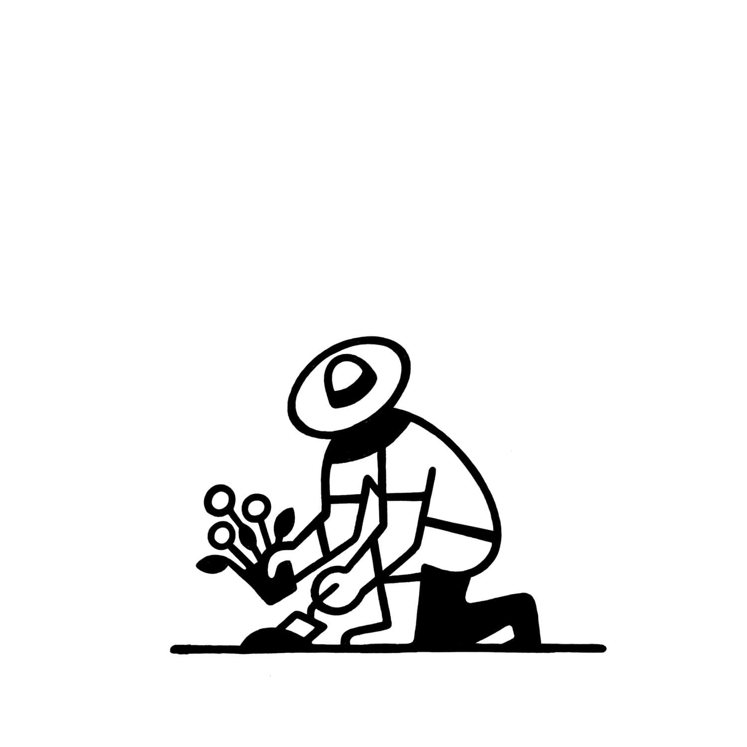 miguel porlan, illustration, spots, the new yorker, gardening