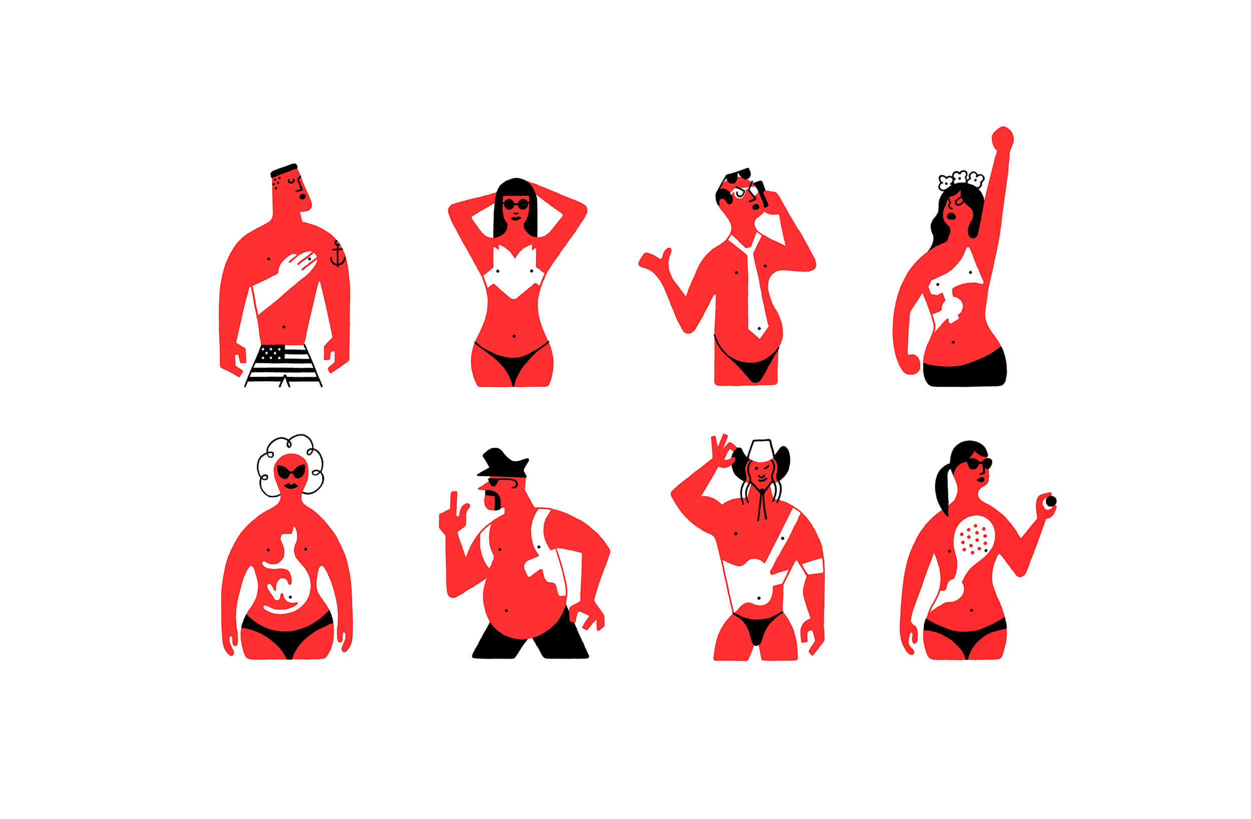 miguel porlan, illustration, spots, the new yorker, suntan, spot series