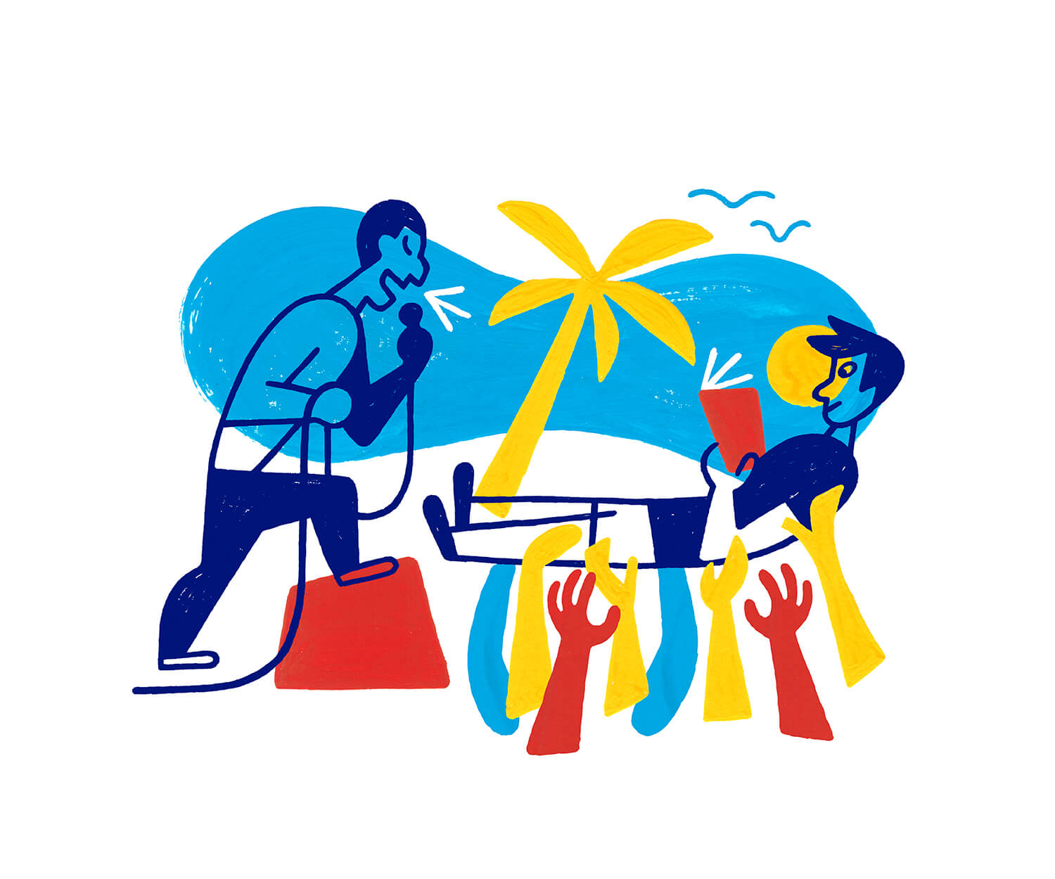 miguel porlan, illustration, summer reading, the new york times, book review