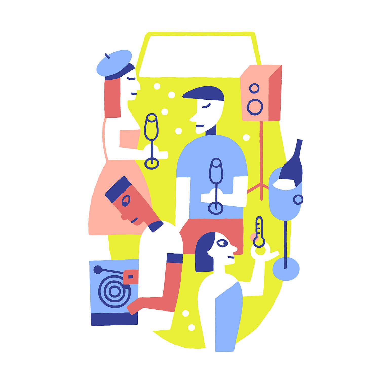 miguel porlan, illustration, vins, wine, wine, vin, vins ete, summer wine, le monde, m mgazine