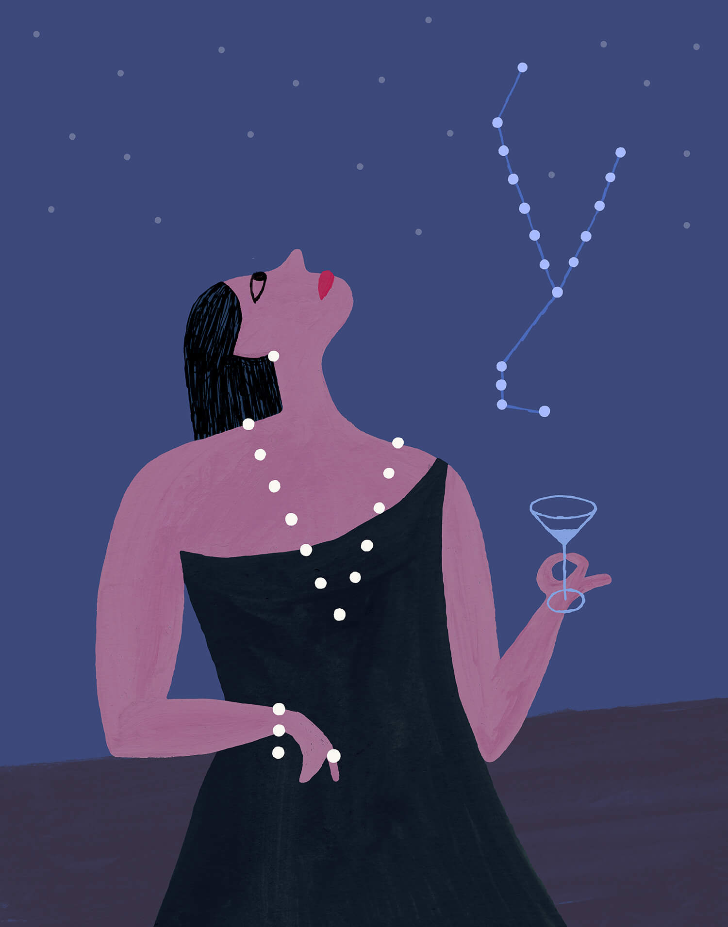 miguel porlan, illustration, the new yorker, starstuck, astrology